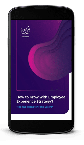 """Cover of """"How to Grow with Employee Experience Strategy"""" on a phone."""