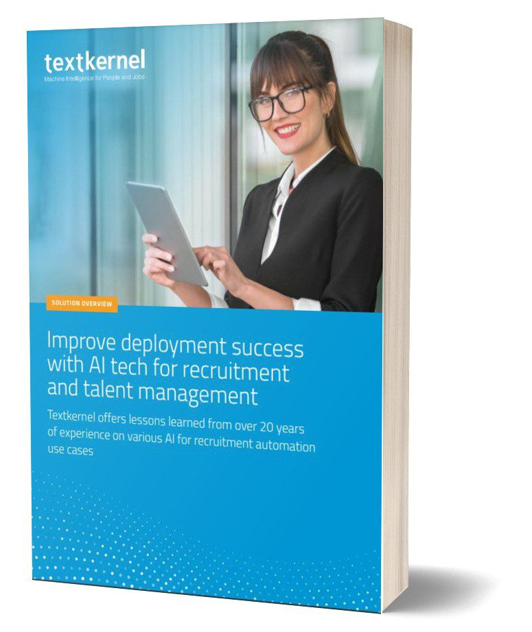 """Front cover """"Improve deployment success with AI tech for recruitment and talent management"""""""